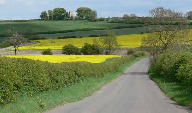 Looking towards church from Stonesby Road