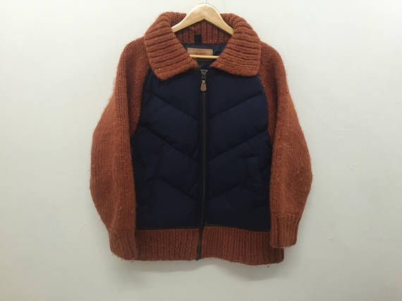 Vintage LEVIS Bomber Jacket with Wool knitwear comme des
