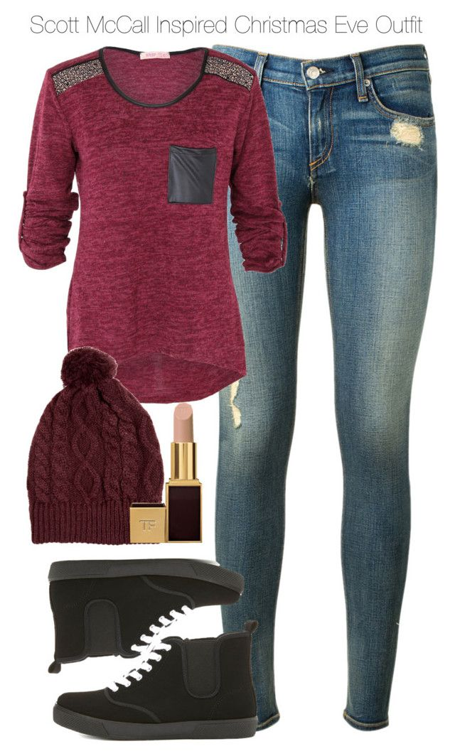 """Teen Wolf - Scott McCall Inspired Christmas Eve Outfit"" by staystronng ❤ liked on Polyvore featuring rag & bone, Charlotte Russe, Tom Ford, Christmas, tw and ScottMcCall"