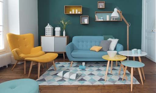 Vaste zitbanken Maisons du Monde Leder en splitleer, PVC en Synthetisch, Natuurlijke vezels, Modern, Klassiek , Vintage