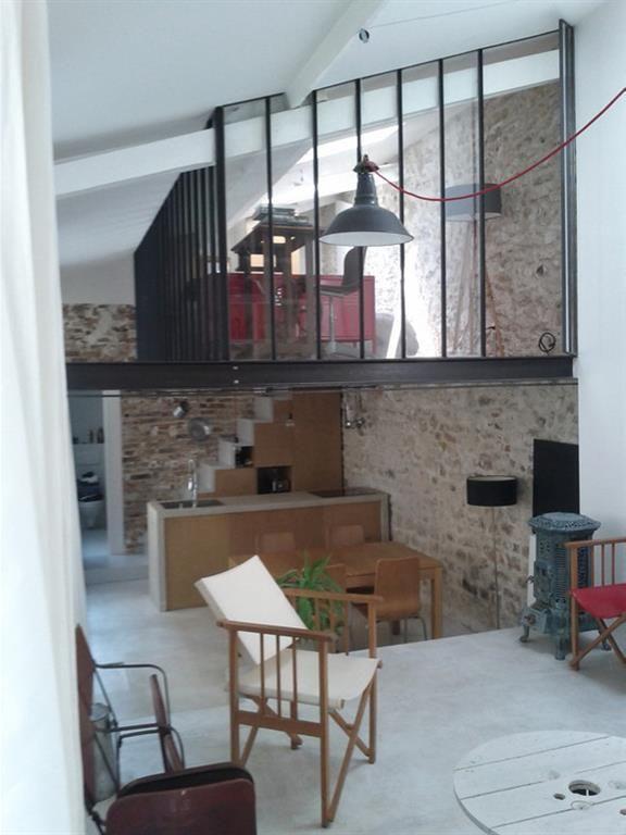 Verri re en mezzanine et suspension type atelier maison for Loft et atelier