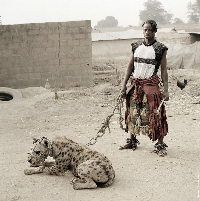 From 'The Hyena & Other Men' series, shot in Nigeria (2005 + 2007) by South African photographer Pieter Hugo.