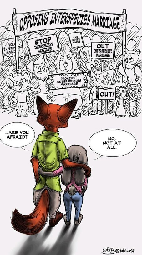Stay strong Nick and Judy!!!!!!!!!!!!!!! Who ever drew thing should not add the angry animals