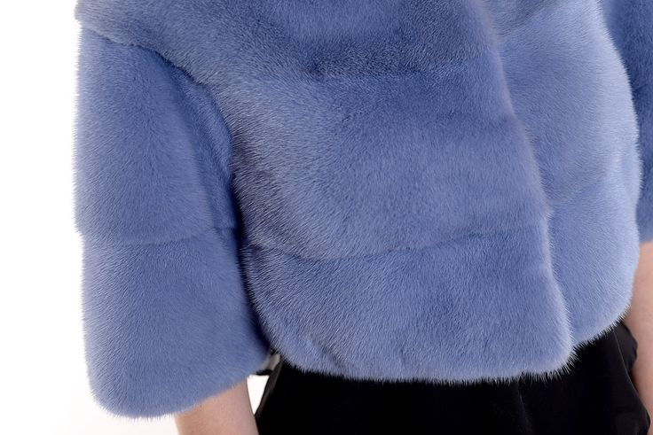 For the colourful. A blue mink fur vest.