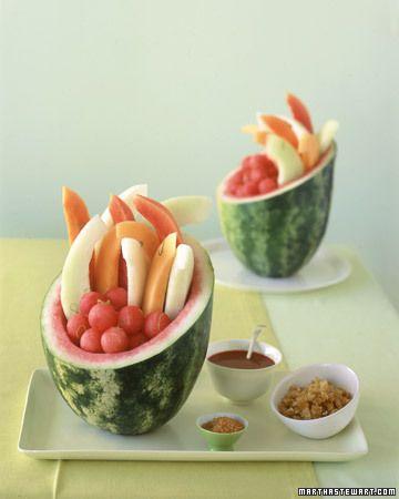 Dessert of the Month: Watermelon Basket - Martha Stewart Recipes