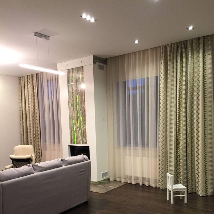 Для оформления окно в этой гостиной @mashkovskaya_marina использовала #жакарад FEELING из коллекции  ILLUSION #Galleria_Arben #fabric #ткани