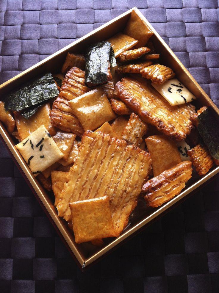 "Okaki (Japanese rice crackers ) MIKIYA Co., Ltd.: Photo by Hideki Tazawa. I always call them ""senbei."" Either way they are delicious, I mean ""oishii""!"