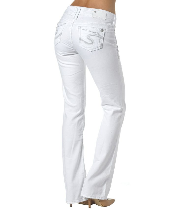 Another great find on #zulily! Silver Jeans Co. White Suki Bootcut Jeans by Silver Jeans Co. #zulilyfinds