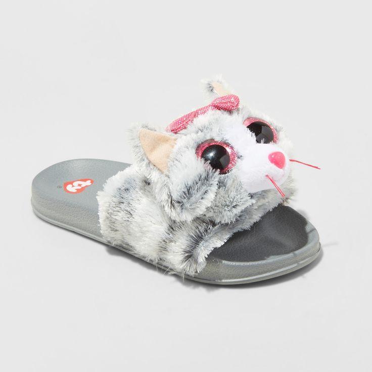 Girls Kiki Beanie Boospool Slided Slippers Gray S Girl