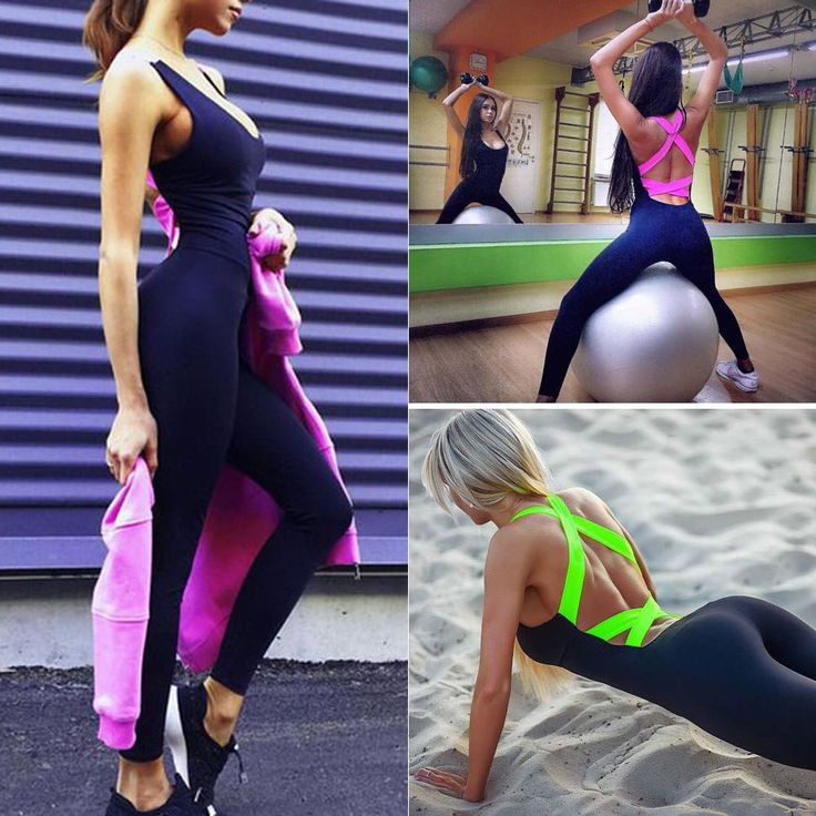 Women's Sports Unitards Jumpsuits Running & Yoga Athletic Fitness Stretch Pants