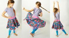 Tellerrock für Kinder und Erwachsene, kostenloses Schnittmuster