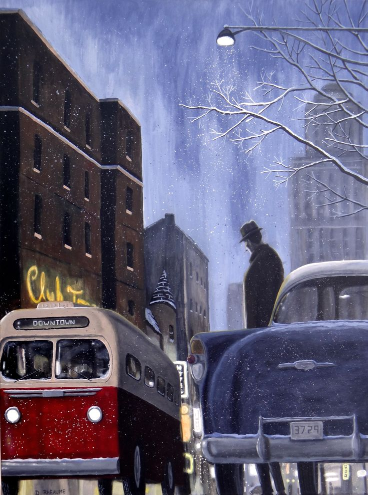 """""""Express Downtown"""" acrylic on canvas www.daverheaume.com"""