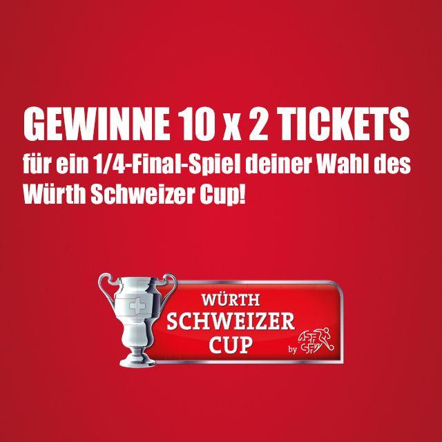 Wir verlsoen 10x2 Tickets für den Würth Schweizer Cup! Jetzt mitmachen: http://ow.ly/IOOpn