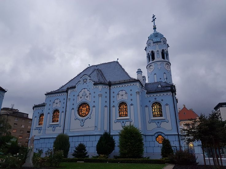 The Blue Church in Bratislava - some say it looks like a fondant-covered cake...what do you think?