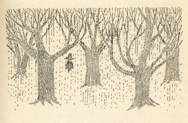 """Illustration from """"Moominvalley in November"""" by Tove Jansson, 1970"""