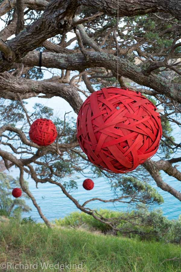David Carson's Baubles - one of my favourites for Sculpture on the Gulf 2013.