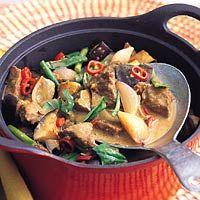 Thaise rundvleescurry met aubergine
