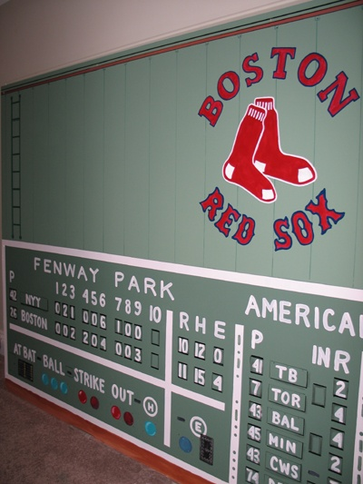 M-C Lamarre creates these amazing Fenway murals for your home or business!  She is so awesome and hopefully sooner than later we will be her AZ monster!