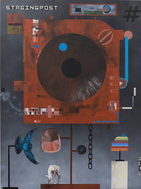 SHANE COTTON Description New Zealand, b. 1964 Staging Post 2012 Acrylic on linen 240 x 180 cm