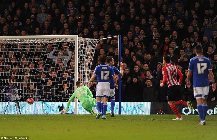 Long fired in a first-time finish after the ball fell to him following James Ward Prowse's...