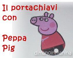 Portachiavi PeppaPig riciclando vecchie carte fedeltà - DIY Peppa Pig keyring recycling old fidelity card - DiManoInManina