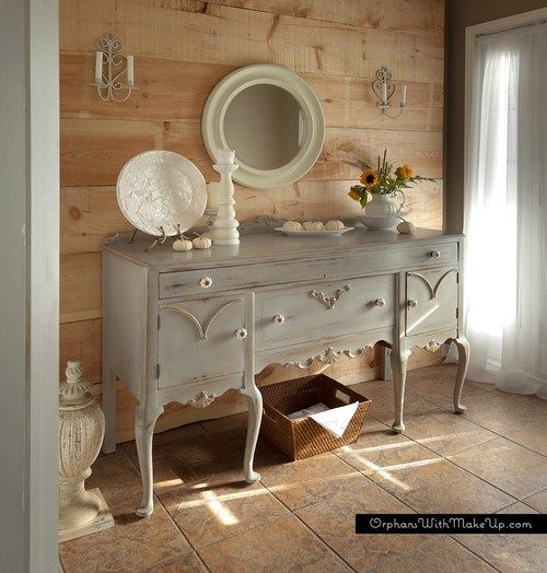 queen anne shabby chic sideboard 007 english cottage. Black Bedroom Furniture Sets. Home Design Ideas