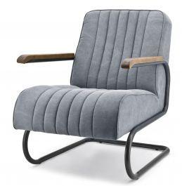 Zeer comfortabel fauteuil van het topmerk Eleonora. De Arthur fauteuil, verkrijgbaar in grijs en beige, is bekleed met een zachte canvas stof en de armleggers zijn gemaakt van hout. Het buisframe is gemaakt van zwart gelakt metaal.