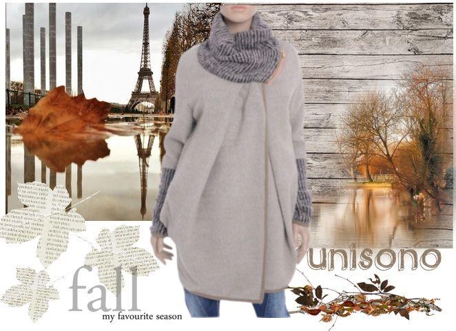Elegancki, ciepły płaszcz na chłodne jesienne dni :)  https://www.unisono.eu/plaszcz-materialowy-un015-beige.html