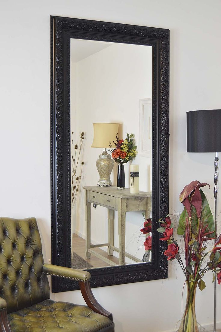 Buy vancouver expressions linen mirror rectangular online cfs uk - View Devonshire Black Full Length Mirror 177x86cm Product From Soraya Interiors Uk See More Products