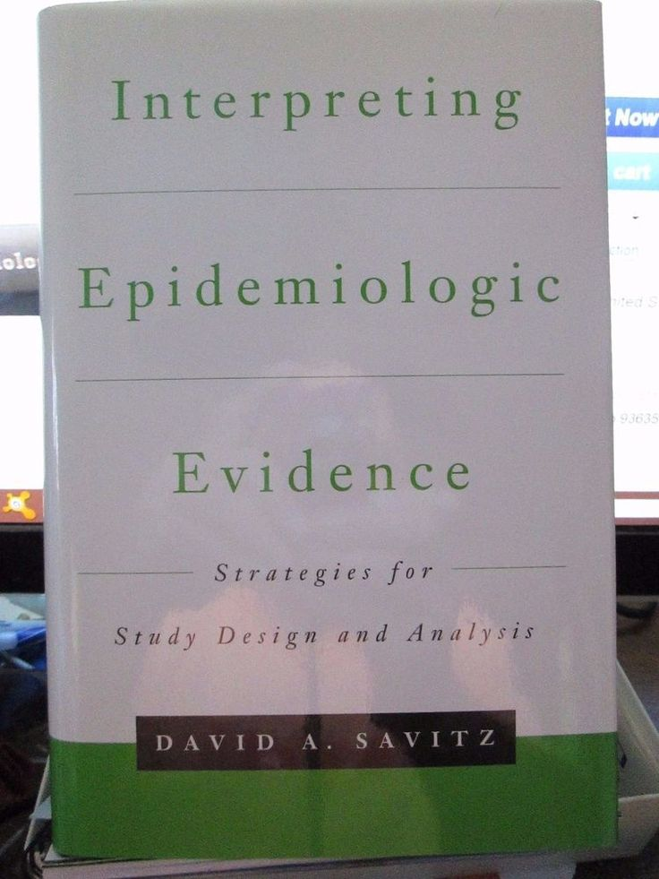 Hardcover Medical Text Book 'Interpreting Epidemiologic Evidence' Savitz #Textbook