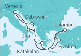 Itinerario del Crucero Italia, Grecia, Turquía, Croacia - MSC Cruceros