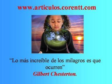 Si destinas la mayor parte de tu energía al cumplimiento de un sueño, notarás que los milagros ocurren. http://articulos.corentt.com