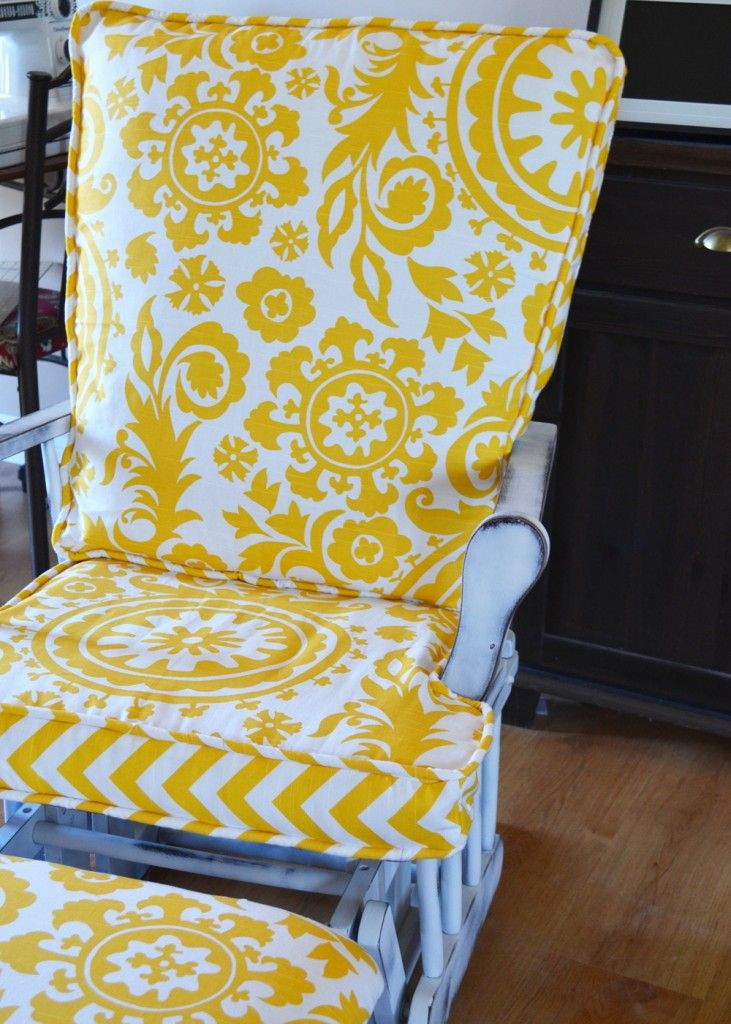 90 best rocking chairs images on pinterest painted rocking chairs chairs and childs rocking chair - Rocking chair cushion diy ...