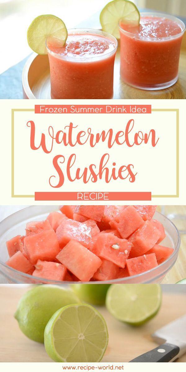 Watermelon Slushies Recipe: Frozen Summer Drink Idea♨️http://recipe-world.net/watermelon-slushies-recipe-frozen-summer-drink-idea/?i=p