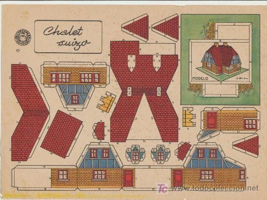 17 best images about edif cios de papel on pinterest - Maquetas de chalets ...