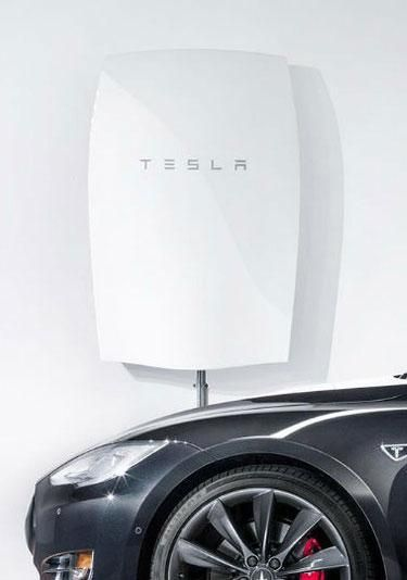 The Tesla Powerwall is a big battery. You mount it on your wall, and you have power even when other power fails.