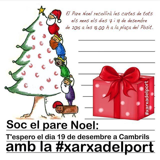 El #PareNoel de la #xarxadelport t'espera el dia 19 de #desembre a les 18,00h a la Plaça del Pòsit per recollir tots els teus desitjos.... T'esperem plegats perque disfrutis d'un dia #magic a #Cambrils