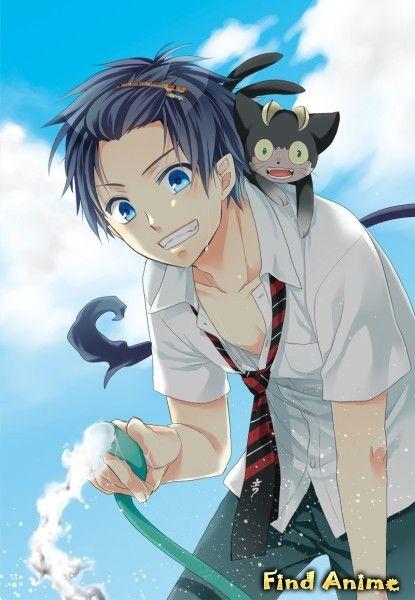 синий экзорцист картинки аниме