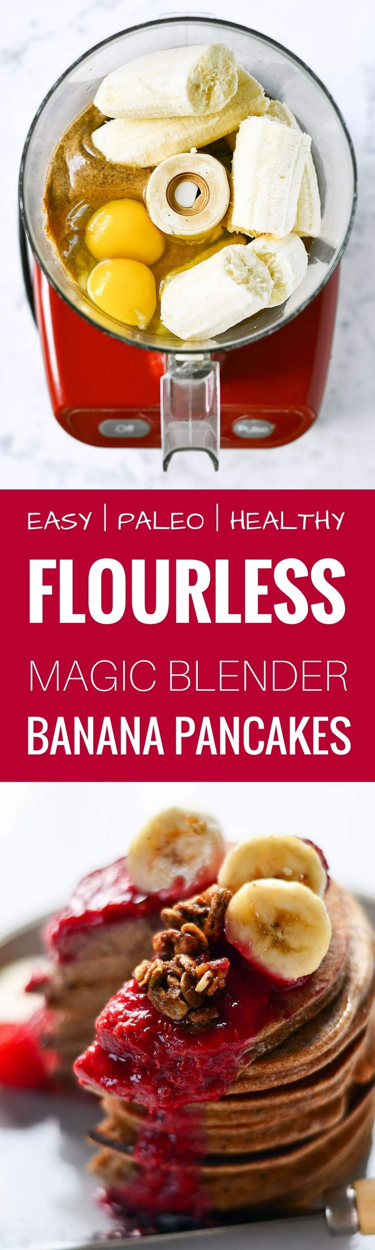 Magic paleo blender banana pancakes. best paleo pancakes recipe. Light, soft, and fluffy! 3 ingredients. Easy paleo pancake recipe. Best healthy banana pancakes recipe. Flourless banana pancakes. Panc