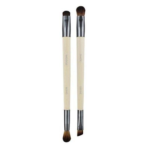 EcoTools Duo Enhancing Eyeshadow Brush Set (12 AUD) ❤ liked on Polyvore featuring beauty products, makeup, makeup tools, makeup brushes, eye shadow brush, ecotools makeup brushes, ecotools, shadow brush and eyeshadow brushes