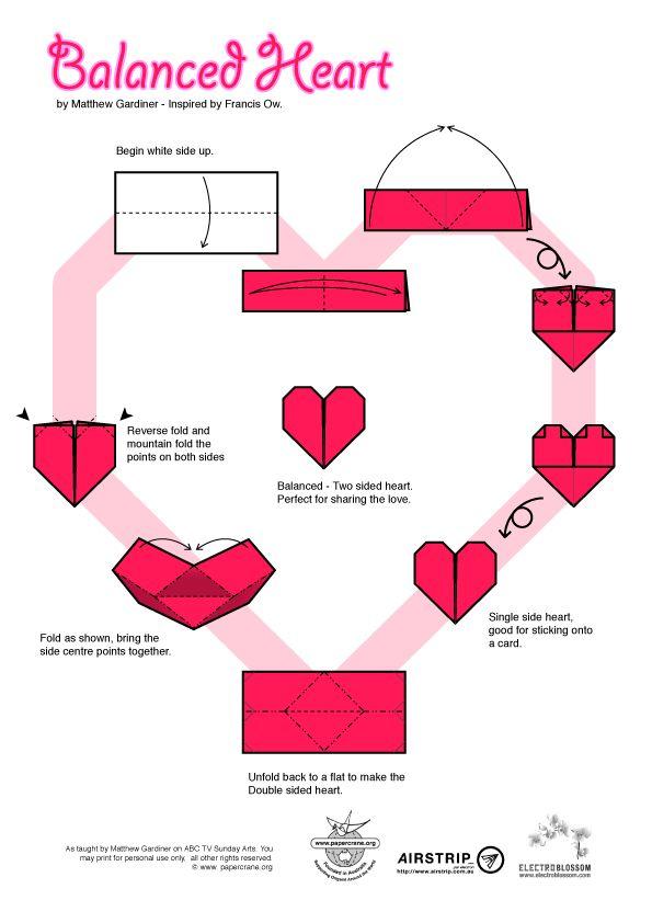 valentine hearts origami