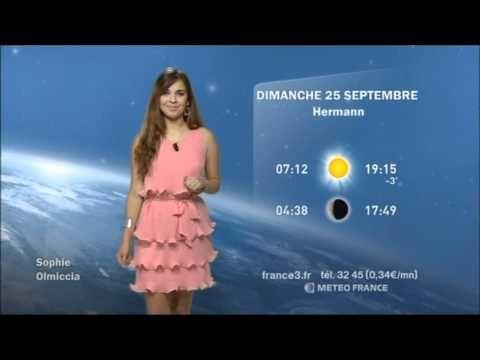 La météo de France 3 Corse - Par Sophie Olmiccia - YouTube