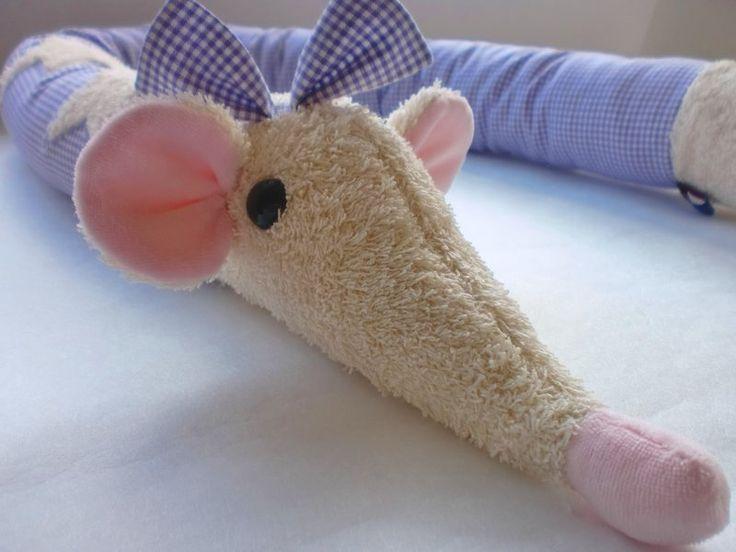 Bettnestchen Maus vichy karo lila von bambalino auf DaWanda.com