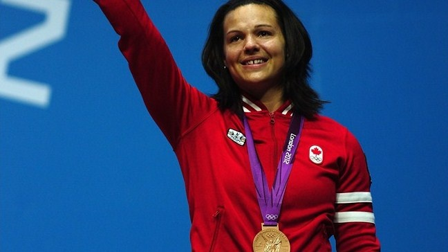 Day 4 (July 31st, 2012) - Bronze - Women's Weightlifting 63 KG - Christine Girard - Canada's first ever medal in women's weightlifting at the Olympics - lifted 133KG to win her medal