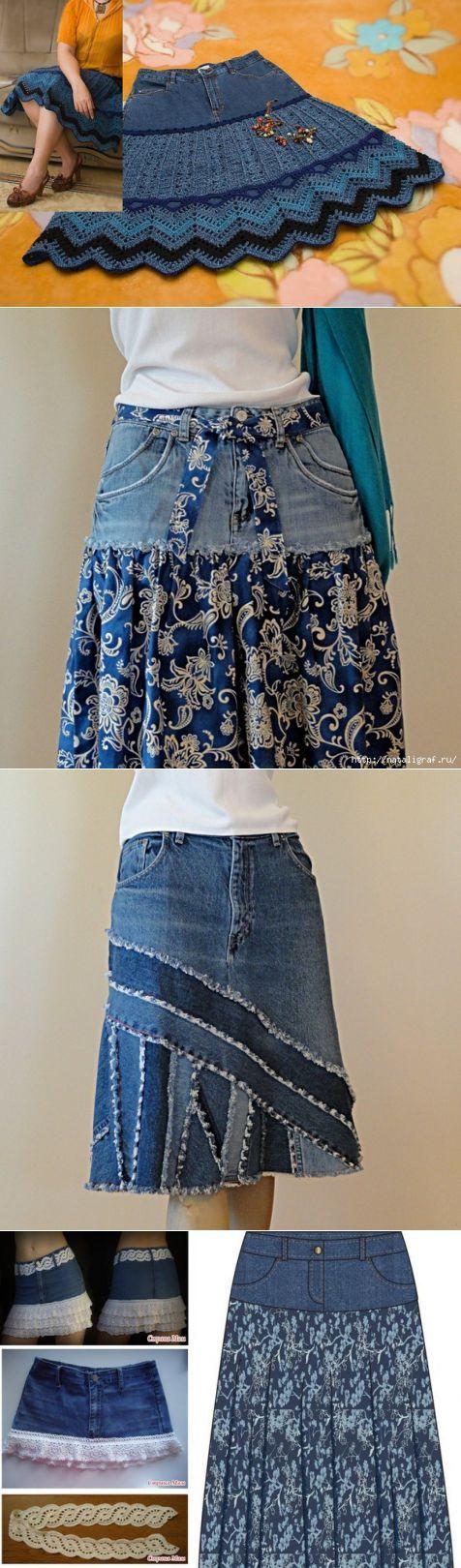 Коллекция изделий из старых джинсов / Прочие виды рукоделия / Шитье