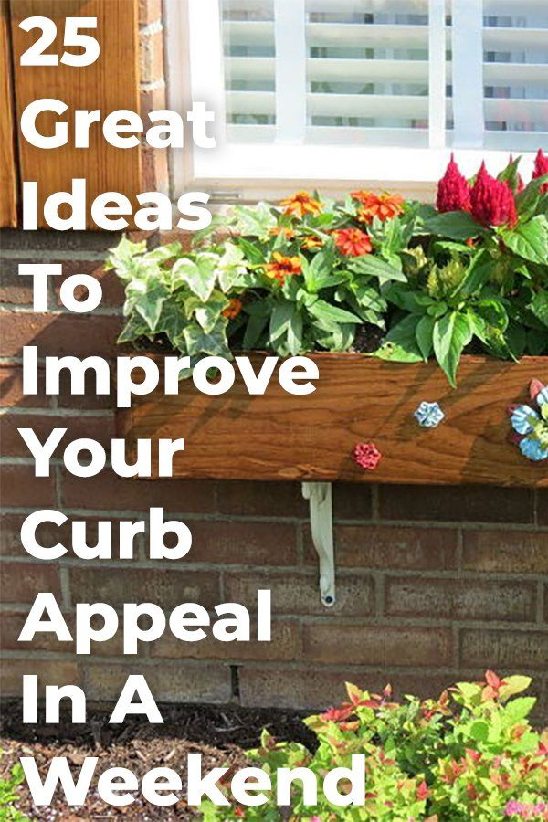 25 Curb Appeal Ideas To Quickly Add Value To Your Home In 2020 Curb Appeal Backyard Outdoor Decor