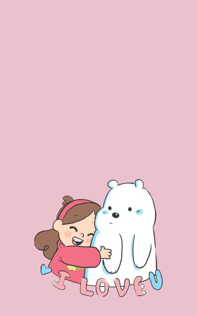 Gravity Falls Iphone 6 Wallpaper Panda Panpan Polar Bear Ice Bear Grizzly Bear
