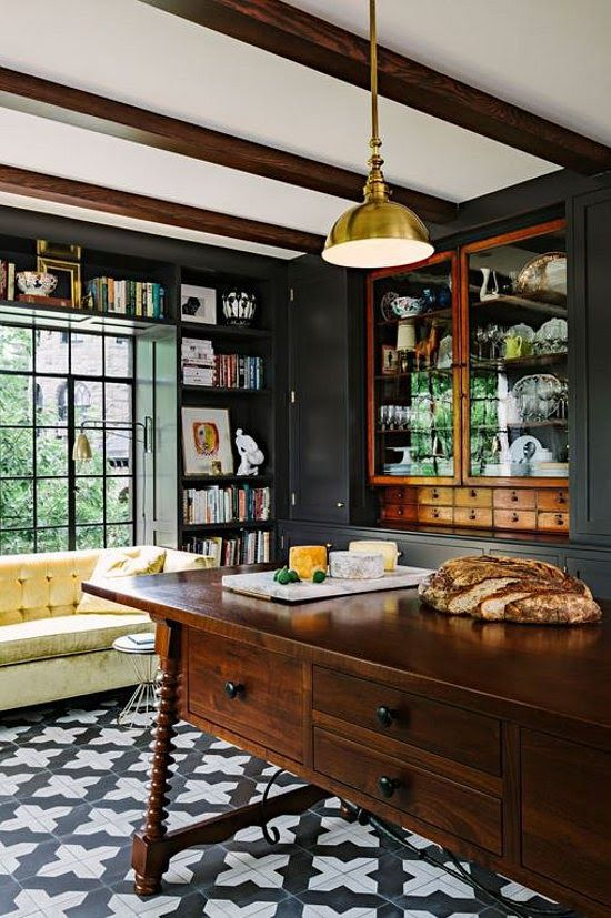 Spanish Inspired Kitchen By Jessica Helgerson. Love The Dark Walls And That  Tile Floor! Part 62