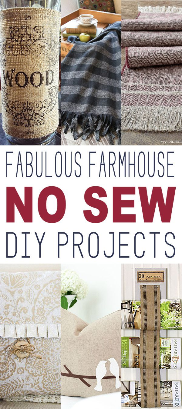 Fabulous Farmhouse No Sew DIY Projects - The Cottage Market