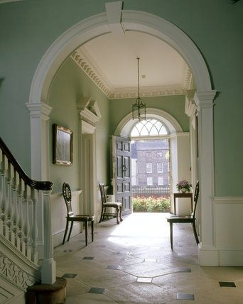 Entrance hall, Peckover House, commenced 1722,North Brink, Wisbech, Cambridgeshire.